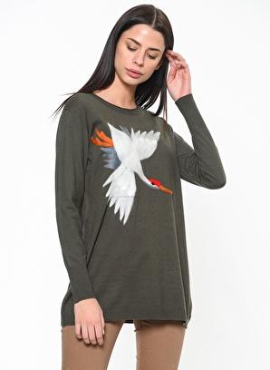 Fashion Friends Tunik Fashion Friends Kuş Desenli Tunik Kadın
